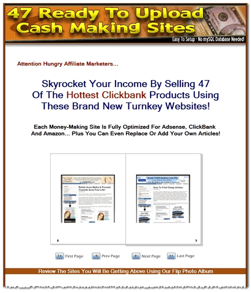 Product picture 47 Cash Making Clickbank Website Templates