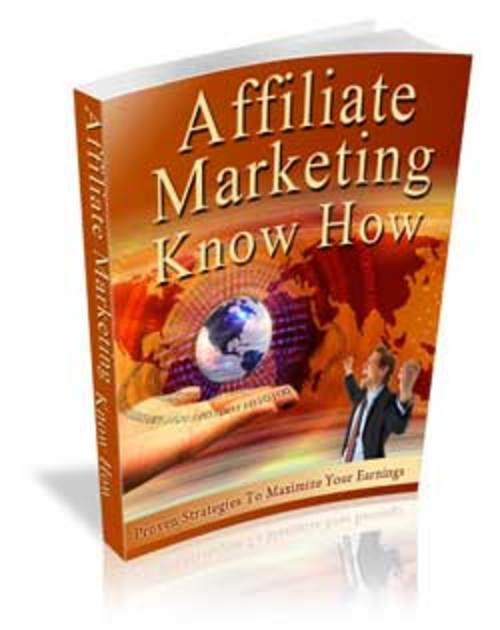 Product picture Affiliate Marketing Know How